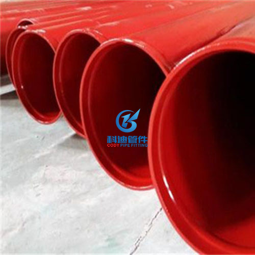 红色3PE防腐钢管